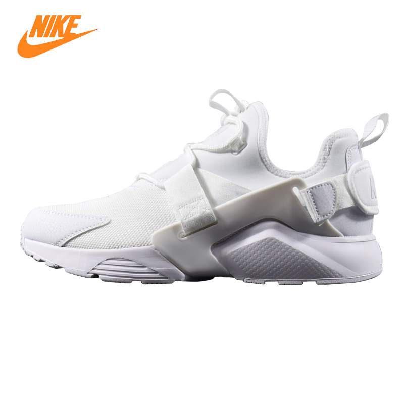 Nike Air Huarache City Low Men and Women Running Shoes, White, Shock Absorption Breathable Non-slip Wear Resistant AH6804 100 цена