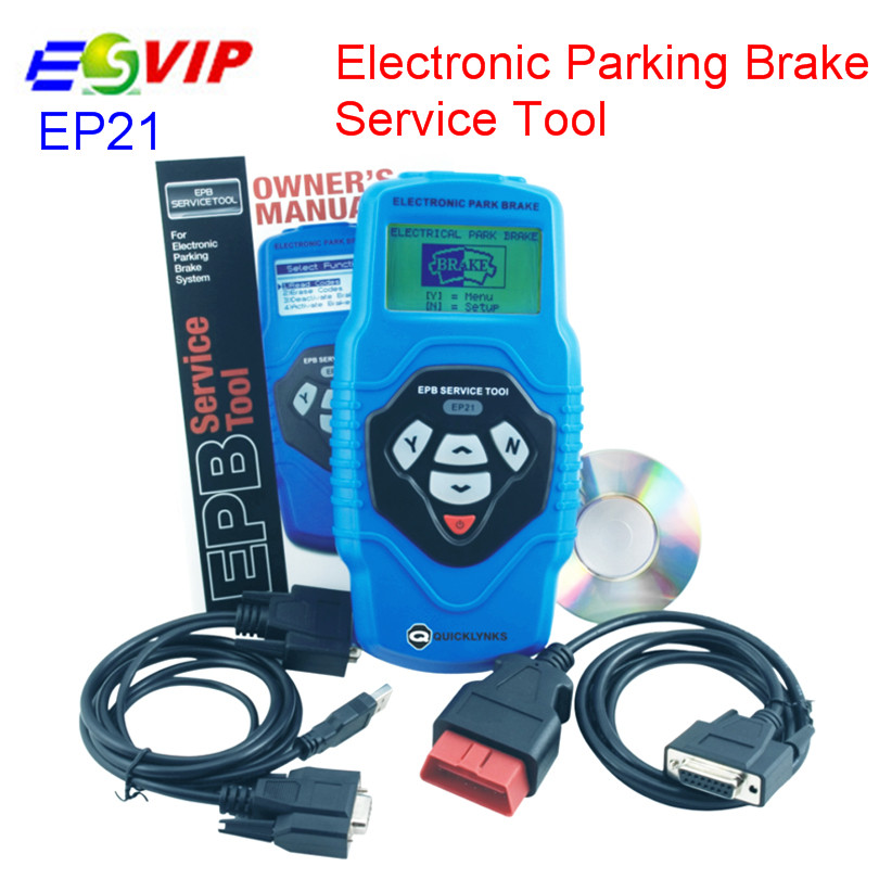 New arrival EP21 Electronic Parking Brake Service Tool free shipping (Multilingual Updatable) Professional Code Scanner electronic parking brake epb service tool ep21 multilingual updatable one year warranty
