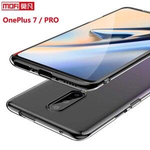 Image 1 - Coque pour oneplus 7 pro OnePlus 7 coque transparente transparente en silicone souple en ptu ultra mince fond mofi coque arrière one plus 7 pro