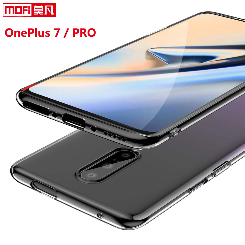Oneplus 7 pro case Oneplus 7 case cover 1+7 silicon soft ultra thin funda mofi transparent back clear coque Oneplus 7 pro case-in Fitted Cases from Cellphones & Telecommunications