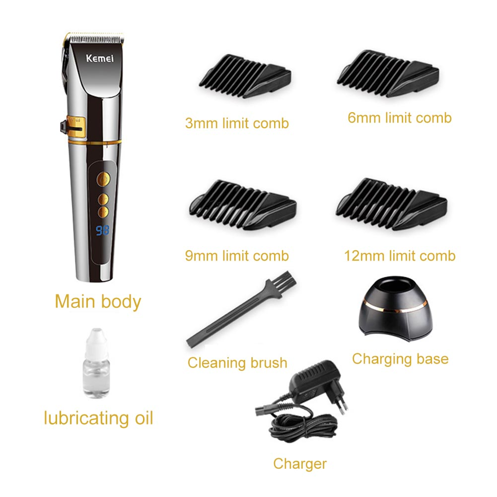 Electric Hair Clipper Kit for Men Barber Rechargeable Trimmer Grooming Haircut Hair Cutting Machine @ME88Electric Hair Clipper Kit for Men Barber Rechargeable Trimmer Grooming Haircut Hair Cutting Machine @ME88