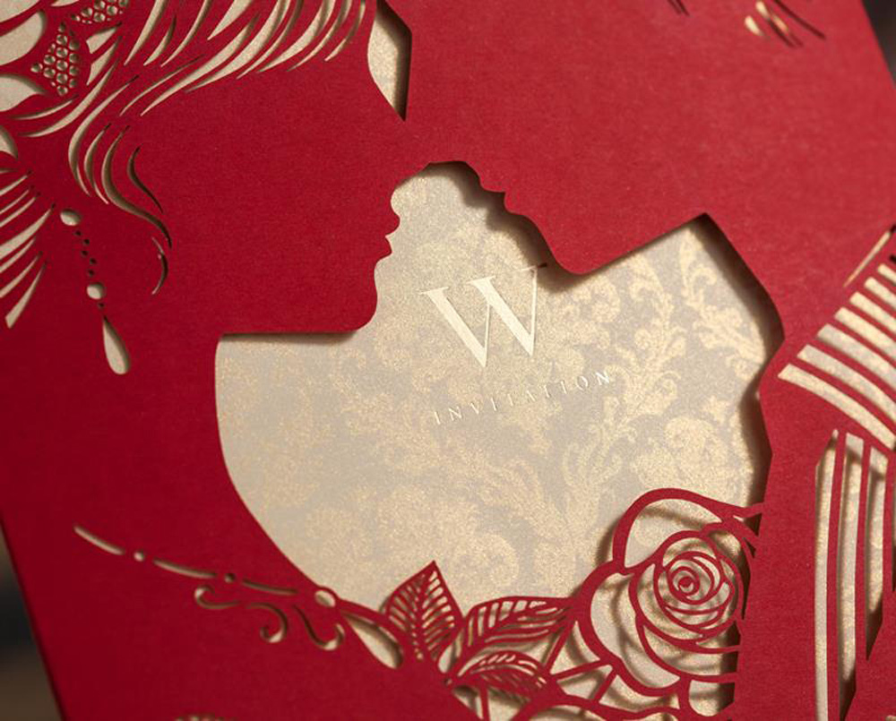 1pcs Sample Rosy Bride & Groom Cut out Free Personalized ...
