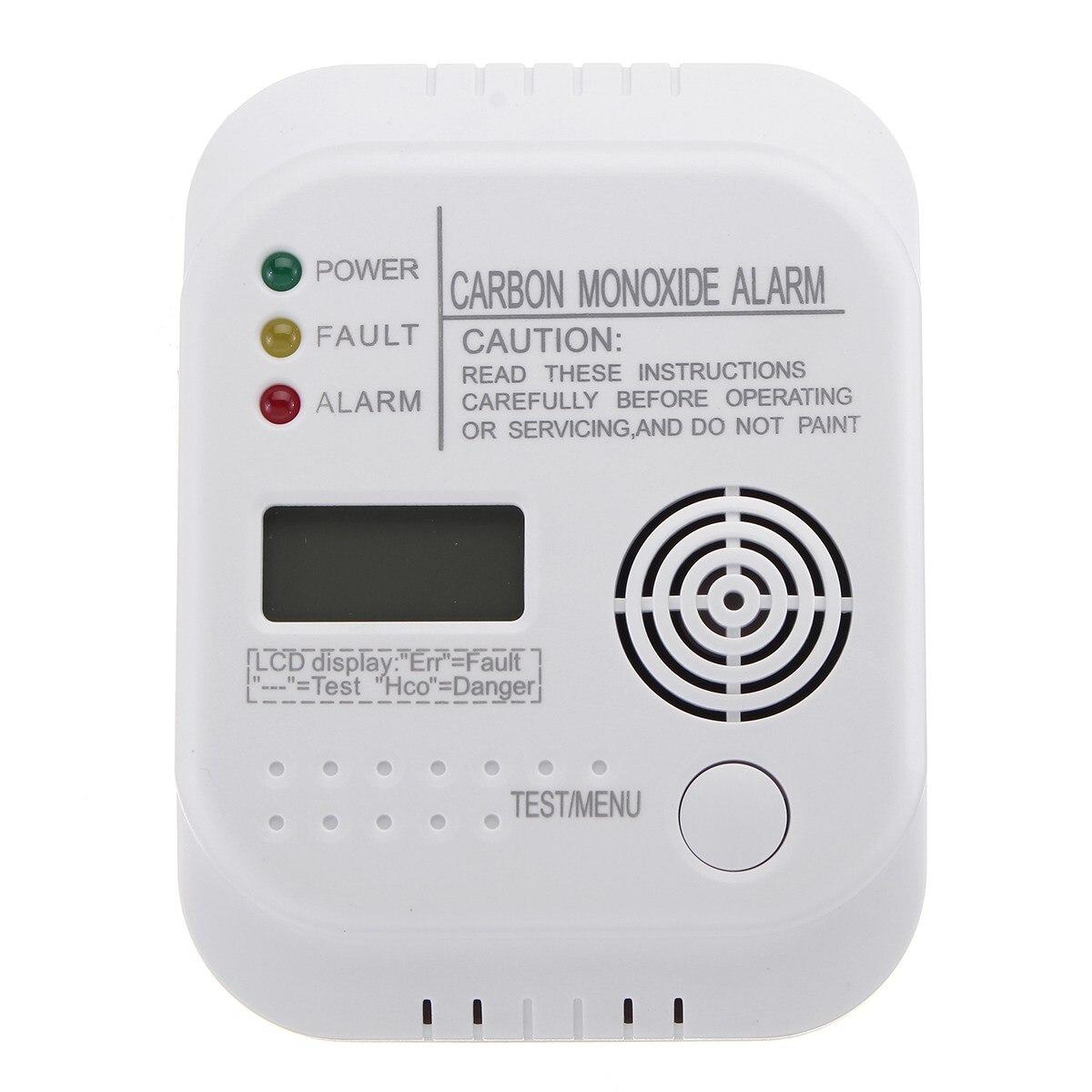 Safurance CO Carbon Monoxide Alarm Detector LCD Digital Home Security Indepedent Sensor Safety safurance co carbon monoxide alarm detector lcd digital home security indepedent sensor safety
