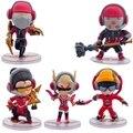 Novo 5 pçs/lote jogo de ação pvc figura Jax Vayne Lee Sin modelo brinquedos bonecas campeão SKT A1 conjunto modelo para coleção ou presente hot