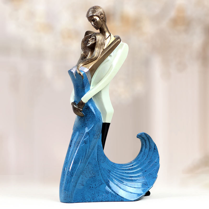 Living Room Tv Cabinet Cabinets Statue Close Friend Creative Marriage Figurine Bedroom Wedding Gift Figure In Statues Sculptures