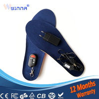 Nowe wkładki do ogrzewania USB zimowe grube ciepłe wkładki zdalnego sterowania wkładki do ładowania dla mężczyzn kobiety buty akcesoria do butów 1800MAH|Wkł. do butów|Buty -