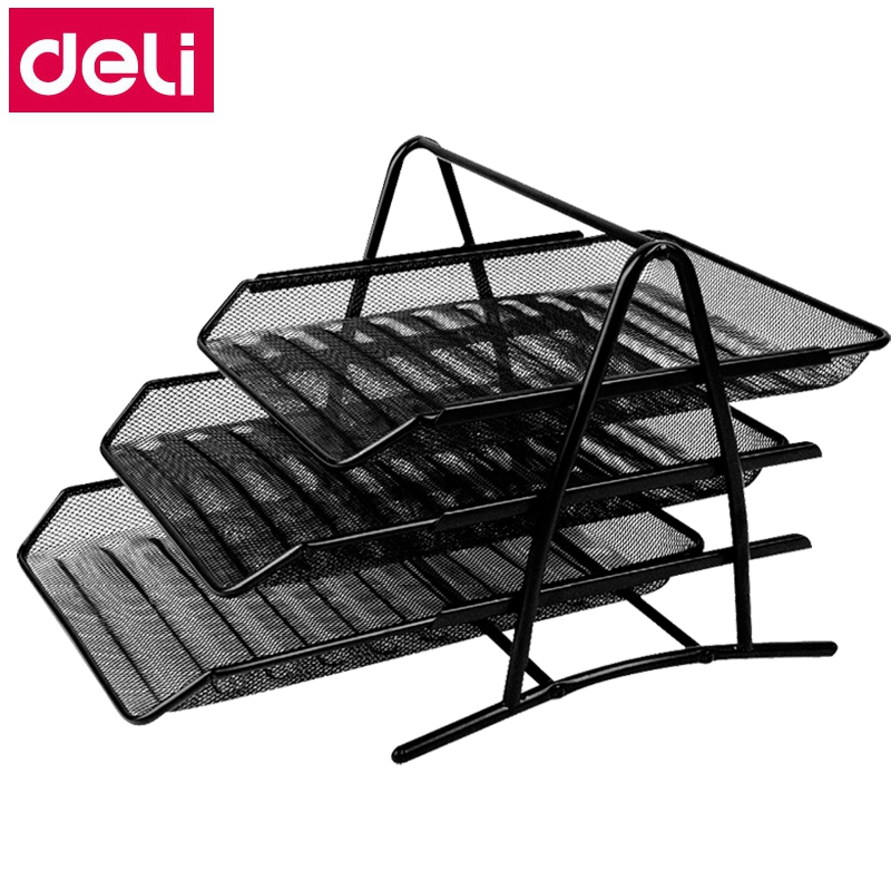 Deli 9181 metal Document trays 3 layer file basket file tray documents managementDeli 9181 metal Document trays 3 layer file basket file tray documents management