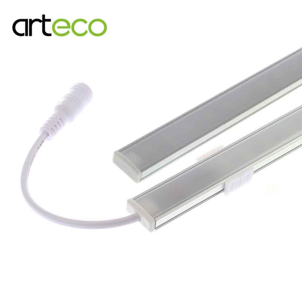 2PCS DC12V Touch Sensor LED Bar Light Dimmable 50cm Ultra mince LED Tude Hard bande lumière blanche / blanc chaud