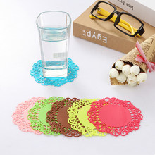 4 Stuks Leuke Bloem Coaster Plaatsing Voor Mokken Cup Bureau Set Tafel Decoratie Kawaii Papeleria Briefpapier Kantoor Accessoires Supply(China)