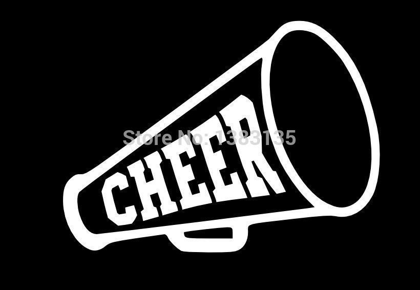 Hot sale cheer megaphone sticker vinyl decal funny jdm car window and all the smooth surface 8 colors in car stickers from automobiles motorcycles on