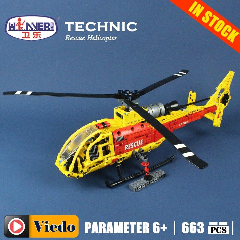Winner 7063 Gazelle hélicoptère modèle construction jouets loisirs Compatible avec lego blocs technique briques éducatives pour les enfants
