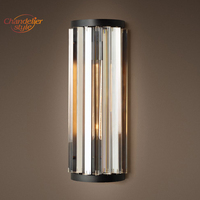 Modern Vintage Crystal Wall Lamp Wall Sconce Light for Home Hotel Bed Room Decoration