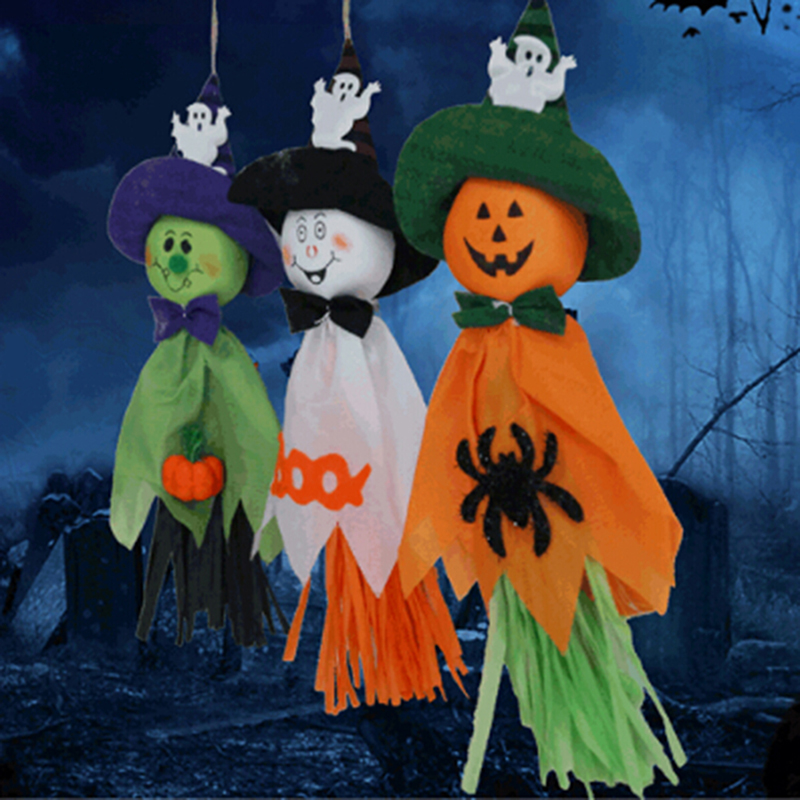 1pc scarecrow horror ghost pendant halloween party bar decor halloween ornaments props decoration halloween supplies ic975585 - Halloween Supplies