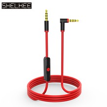 SHELKEE Replacement Cable for Beats by Dr. Dre Headphone Solo 2/3 HD/Studio/Pro/Detox/Wireless,for Samsung S8 LG G6 iPhone6S original replacement red aux auxiliary pro and detox edition cable wire cord for monster solo beats studio headphones by dr dre solo studio solohd headphones cable discontinued by manufacturer
