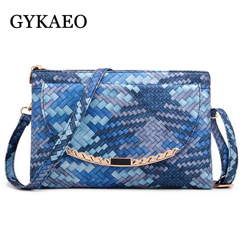 2018 New Women Bag Ladies pu leather Small Knitting Envelope Shoulder Bag For Women Messenger Bags Day Clutches Bolsa Feminina candy color pu leather women bag day clutches patchwork handbag bolsa feminina new design ladies wristlets bags