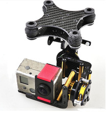 F05684 Carbon Fiber 2 Axis Brushless Gimbal Camera Mount Full Set Plug & Play For Gopro Hero 2 FPV  DJI Phantom RC Quadcopter