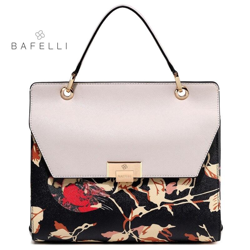 BAFELLI split leather large capacity shoulder bag chinese style luxury  handbag hot sale Beige bolsa feminina women messenger bag 50eeabcef2