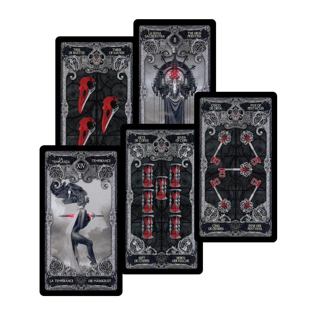 2018 new Dark tarot cards decks English Spanish French German version mystery divination card game for women board game
