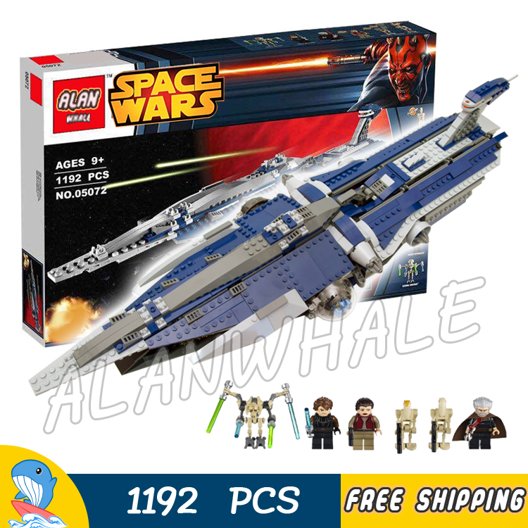 1192pcs New Space Wars The Malevolence 05072 Model Building Blocks Assemble Bricks Boys Toys Movie Games Compatible With Lego