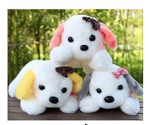 5 pieces cute lying dog toys plush lovely colourful lying dog dolls gift about 30cm