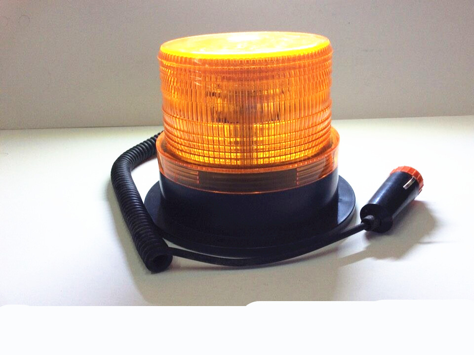 Amber Yellow LED Car Truck Warning flash beacon Strobe Emergency light Police lights Magnetic base car truck 4 led emergency beacon light bar hazard flash strobe warning blue red white