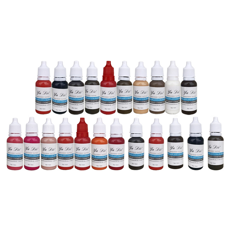 22 Pcs Tattoo Ink Permanent Makeup Pigment 15ml Bottle for Eyebrow Lip Liner Microblading with 22 Colors 7 colors permanent eyebrow lipstick microblading pigments paints ink for lip tattooing 15ml 1 2 oz