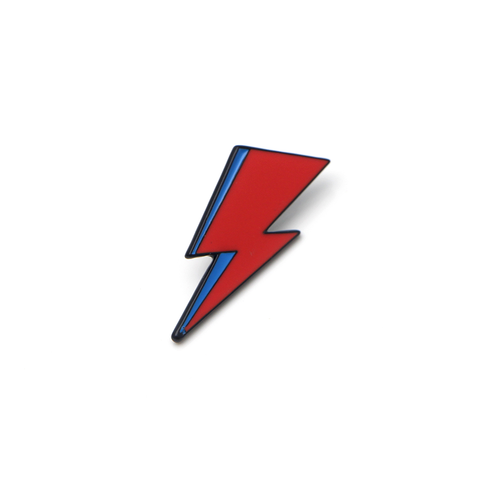 David Bowie Aladdin Sane metal enamel Lightning Pin Badge