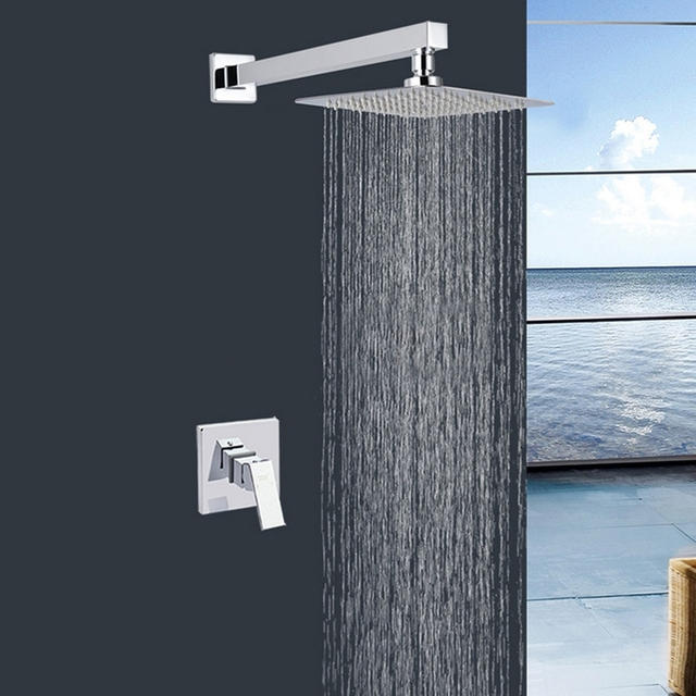 Aliexpress.com : Buy Chrome Solid brass wall mounted shower mixer ...
