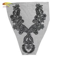 1pcs Lace Collar Of Fashion Style Beautiful Flower 5 Colors Venise Applique Trim Fabric Sewing Supplies Neckline