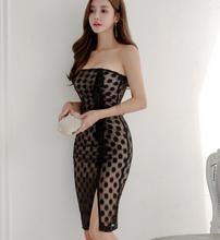 2018 Freeshiping Summer Night club dress fashionable show thin sexy  Dress