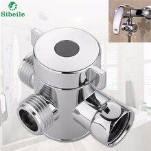Sble 3 способ переключающий клапан сепаратор воды для душа тройниковый переходник Регулируемый Насадки для душа переключающий клапан Аксессуары для ванной комнаты из АБС-пластика