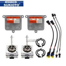 SUKIOTO 55 ワット D1S キセノンバラストプロジェクターレンズ電球キット D3S キセノン 6000 18K 4300 18K 5000 can バス hid キットキセノン D1S 車のヘッドライトランプ