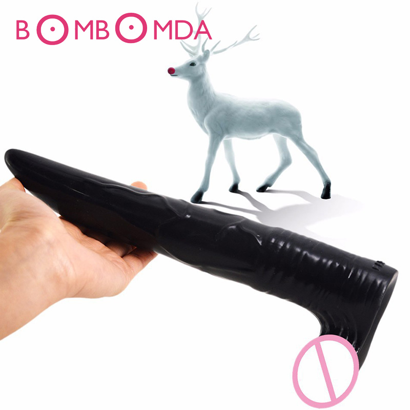Big Dildo Simulation Deer Huge Dildo Long Penis Suction Cup Penis Large Dildo Anal Sex Toys Anus Butt Plug Vagina MasturbatorO35Big Dildo Simulation Deer Huge Dildo Long Penis Suction Cup Penis Large Dildo Anal Sex Toys Anus Butt Plug Vagina MasturbatorO35