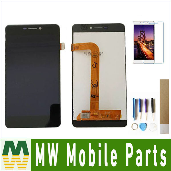 100% Testé Pour BQ BQ-5037 BQS-5037 Force de Frappe 4g BQ 5037 LCD Affichage à L'écran Tactile En Verre Assemblée Capteur Noir couleur avec Kit