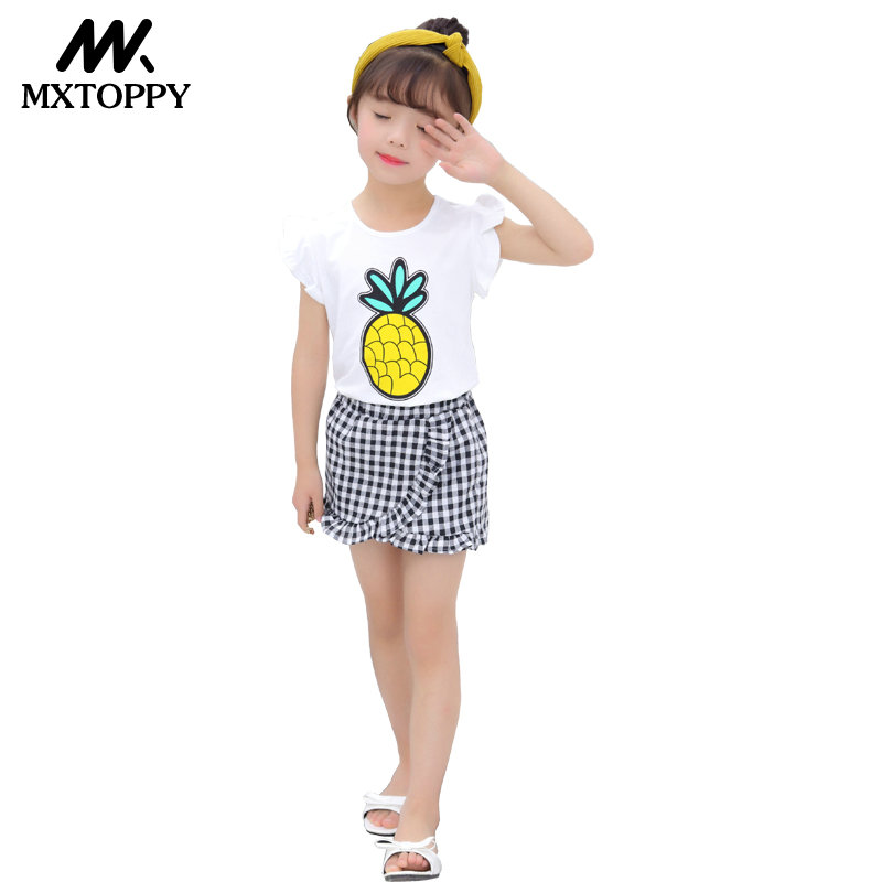 Girls Clothing Set 2018 New Summer O-Neck Sleeveless Toddler Girl Tops + Pants Girls Suit Kids Clothes Children Clothing Sets new tops pants toddler girl clothing summer children clothes set baby boys girls tracksuit kids cloth kids hip hop clothing