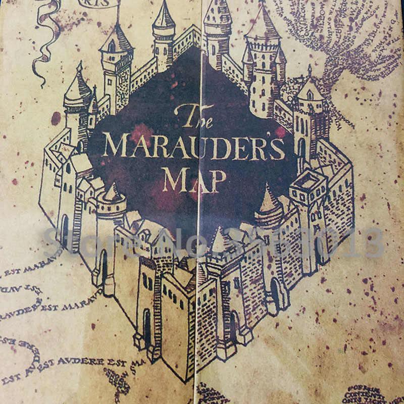 77x22cm The Marauder\'s Map The Wizarding World Harry Movie Version Classic  Poster Vintage Retro Kraft paper