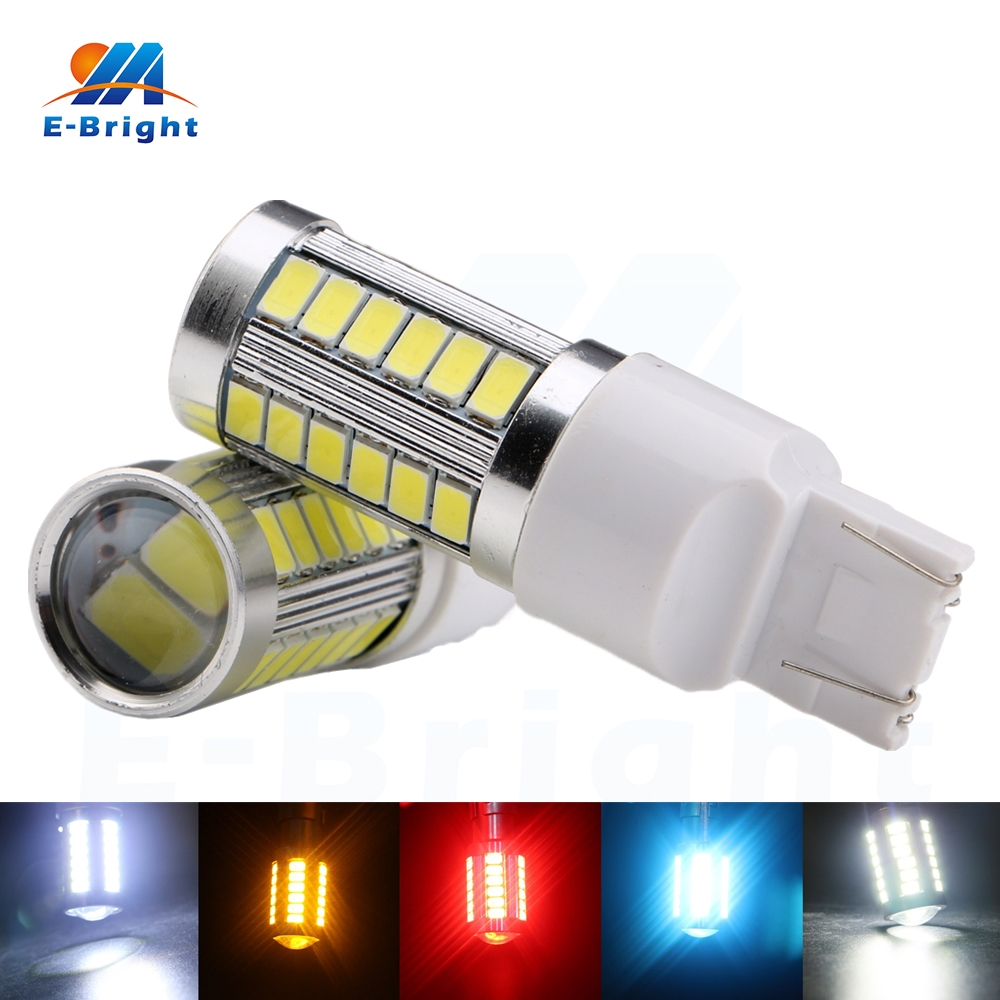 4pcs 7443 T20 5730 33 Smd Led Bulb Auto Lights Indicator Tail Arduino Camping Light With Dimmer Reverse Daytime Running 5 Colors Car Lamp Free Shipping