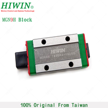 Free Shipping HIWIN MGN9H stainless steel Slider Block Linear Rail Guide Bearing MGN9 Carriages for CNC Kits 3D Printer Part