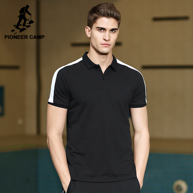 Pioneer Camp new design   polo   shirt men brand clothing casual simple short sleeve Poloshirts male top quality cotton ACP702146