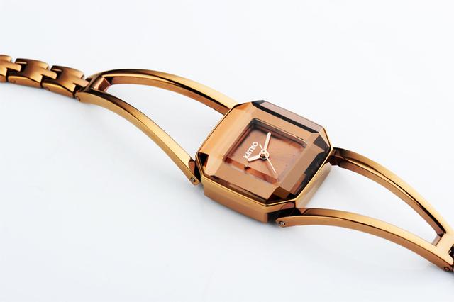 Square Fashion Rose Gold Watch