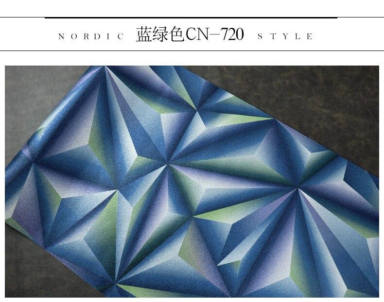 Papier peint pour murs 3 D géométrie trdimensionnelle moderne 4D Tv fond papier peint rouleau argent gris papiers peints pour salon - 6