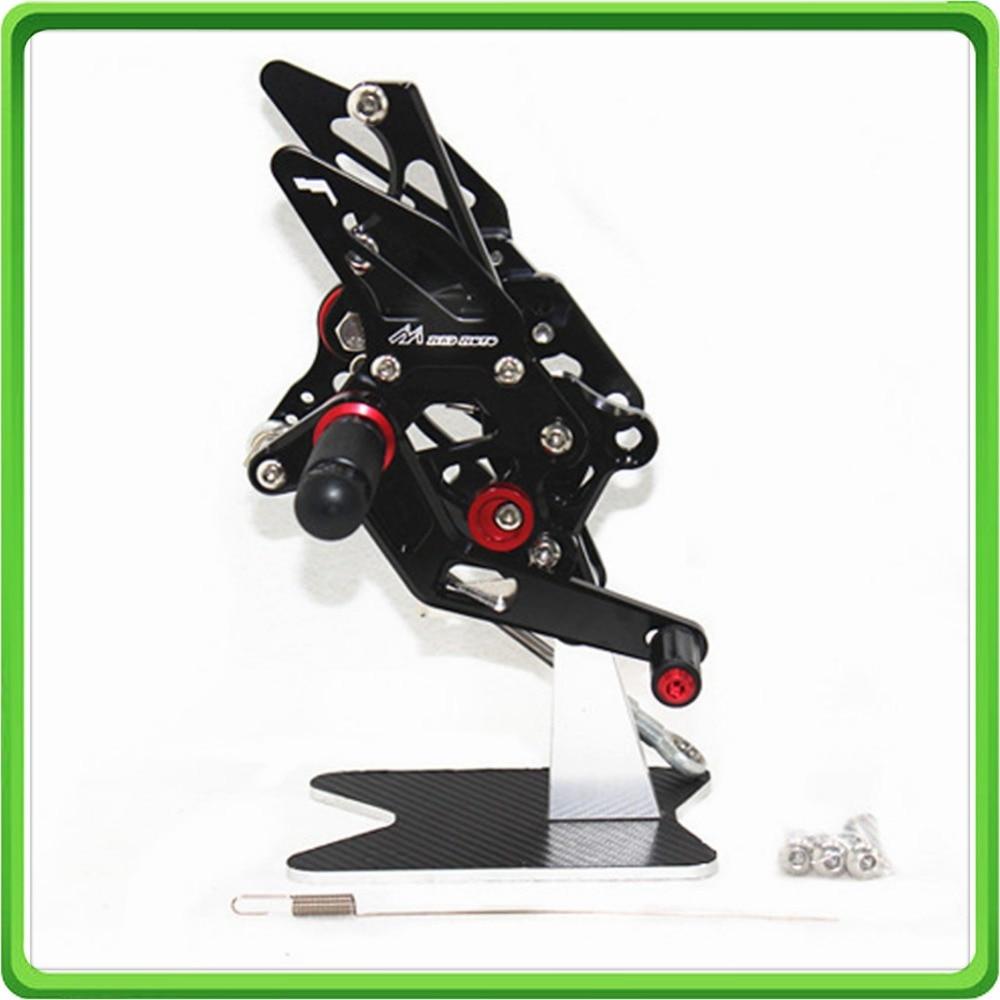 CNC Регулируемая коробка передач набор задних комплектов подставка для ног fegs для Yamaha YZF-R25-& YZF-R3 черный