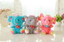 about 20cm lovely cartoon elephant plush toy one lot/ 9 pieces,baby toy,birthday present Xmas gift c938