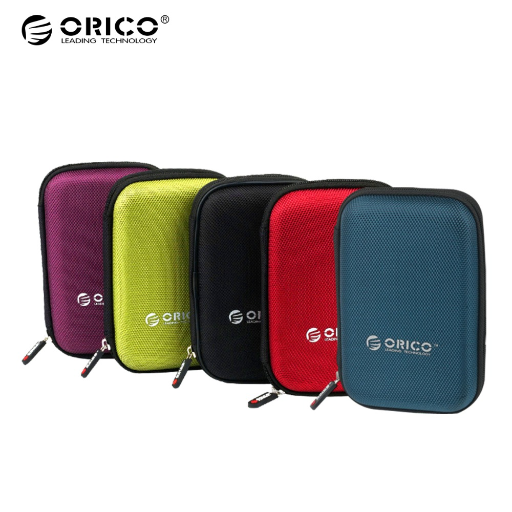 ORICO 2.5 Inch HDD Box Bag Case Portable Hard Drive Bag for External Portable HDD hdd box case storage Protection Black/Red/Blue цена и фото