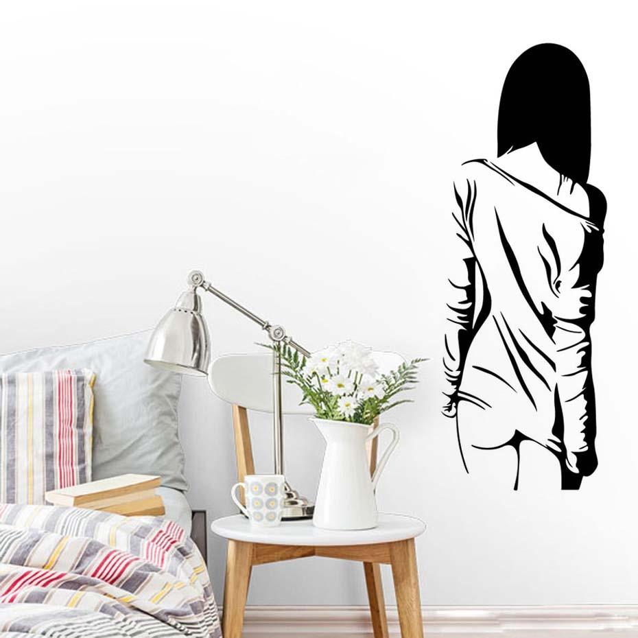 Us 326 29 Offtelanjang Seksi Wanita Tubuh Seni Decals Untuk Gadis Kamar Tidur Vinyl Yang Dapat Dilepas Stiker Wallpaper Perlengkapan Rumah