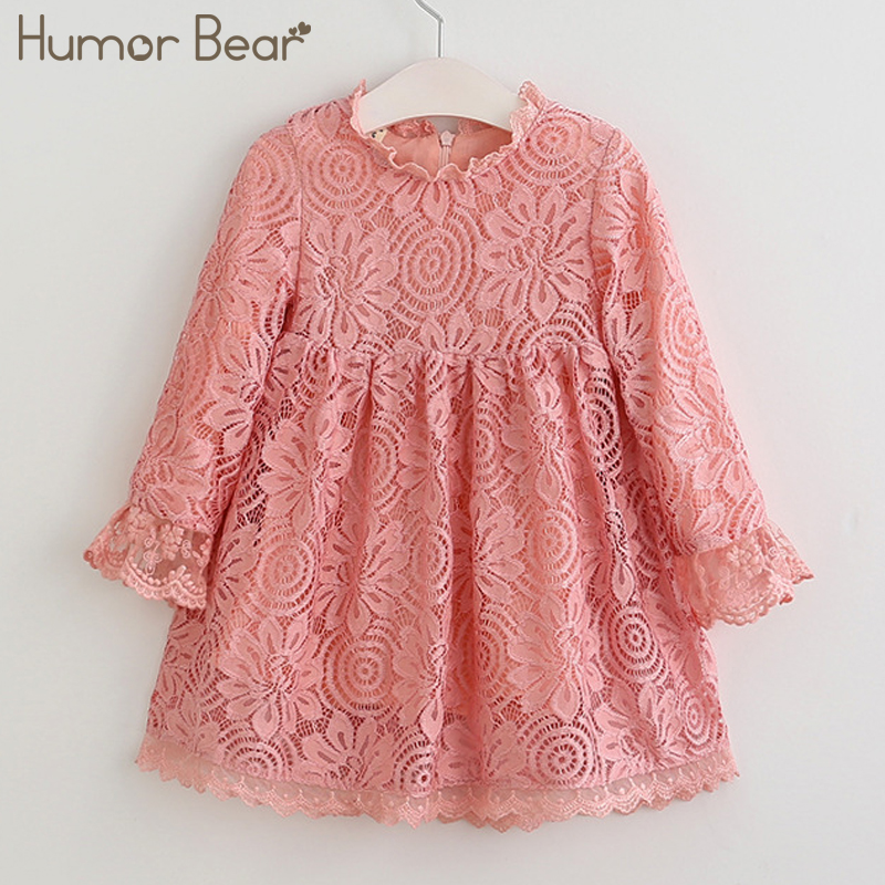 Humor Bear Children's clothes 2018 Girls Dress Fancy Kids Lace Dresses Flower Children Wedding Gowns Formal Prom Baby Frocks