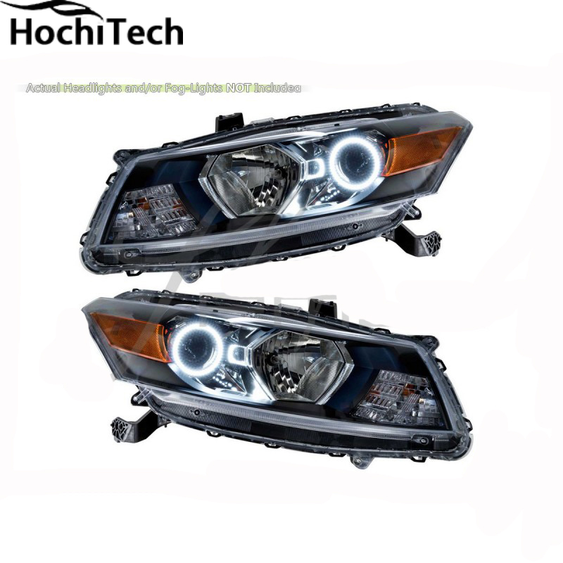 For Honda Accord Coupe 2008 2010 Blue Led Headlight Halo