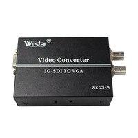 Wiistar SDI TO VGA Converter BNC HD 3G SDI To VGA 1080P Audio Scaler Converter SMPTE