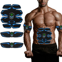 Smart EMS Trainer Electric Muscle Toner Stimulator Wireless Abdominal ABS Stimulator Fitness Body Slimming Massager Machine