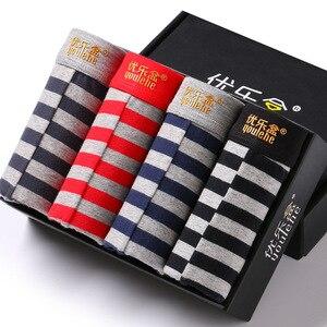 Image 3 - Calzoncillos Bóxer en caja de algodón para hombre, ropa interior, Sexy, marca de calzoncillos, paquete de regalo, 4 unidades